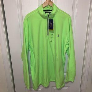 New Polo Ralph Lauren Green Fleece Jacket 2XLT 2LT